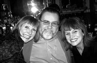 Tommy with 2 world class vocalists Spider Saloff & Arlene Bardelle
