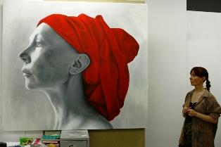 ARINA in her studio