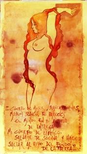 CARLO MONOPOLI cuerpo de mujer PICCOLA